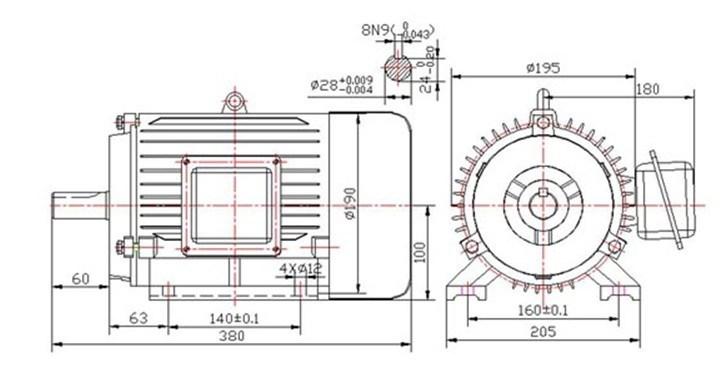 motor de alta velocidad del im u00e1n permanente 2 5kw