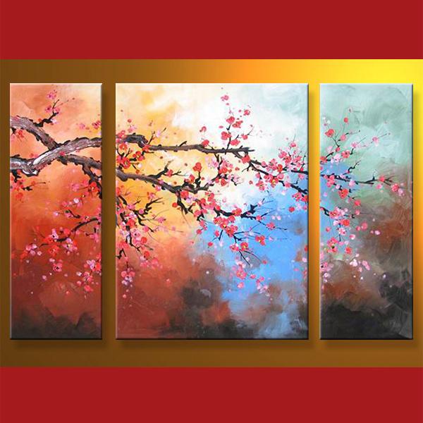 peinture l 39 huile d 39 art de toile de fleur de fleur de prune peinture l 39 huile d 39 art de toile. Black Bedroom Furniture Sets. Home Design Ideas