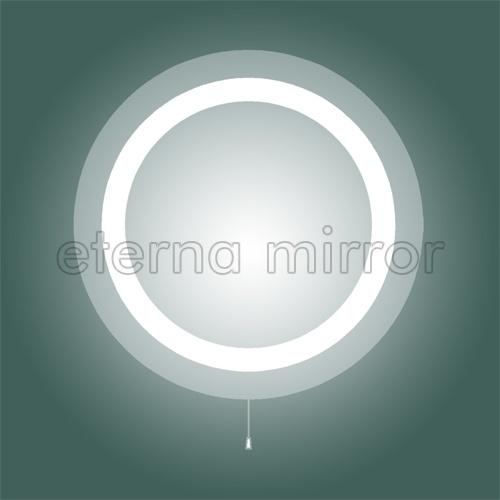 Espejo redondo iluminado del ba o del espejo con for Bano con espejo redondo
