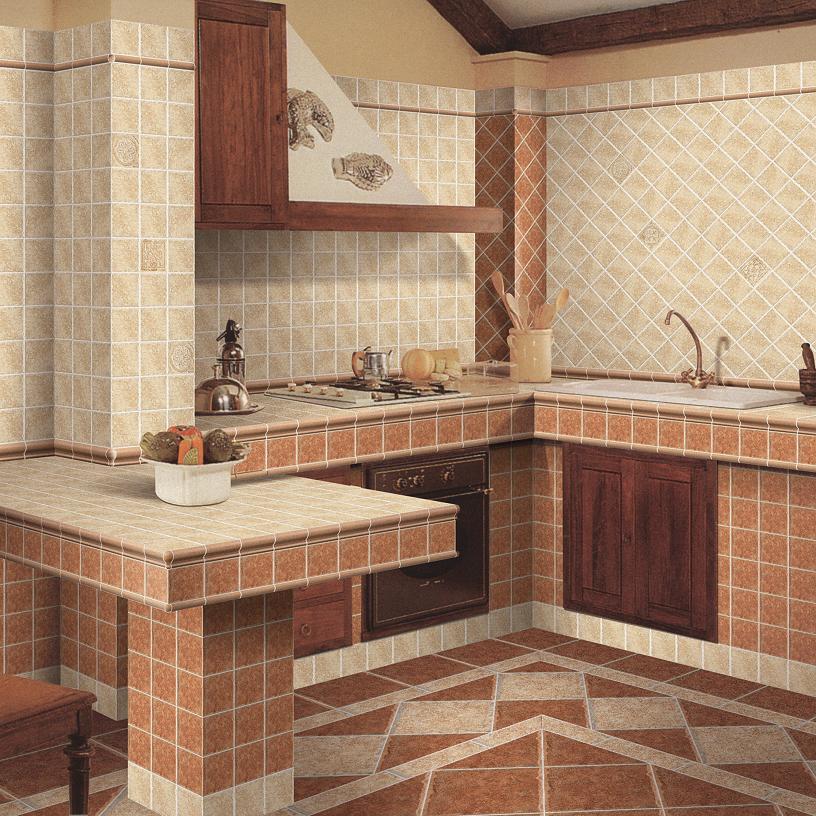 Azulejo de piso de cer mica 1008 1009 azulejo de piso - Azulejos rusticos para cocinas ...