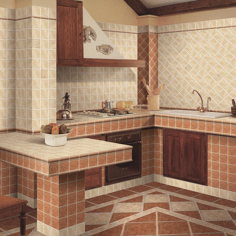 Mattonelle di pavimento di ceramica 1008 1009 - Azulejos rusticos para cocinas ...