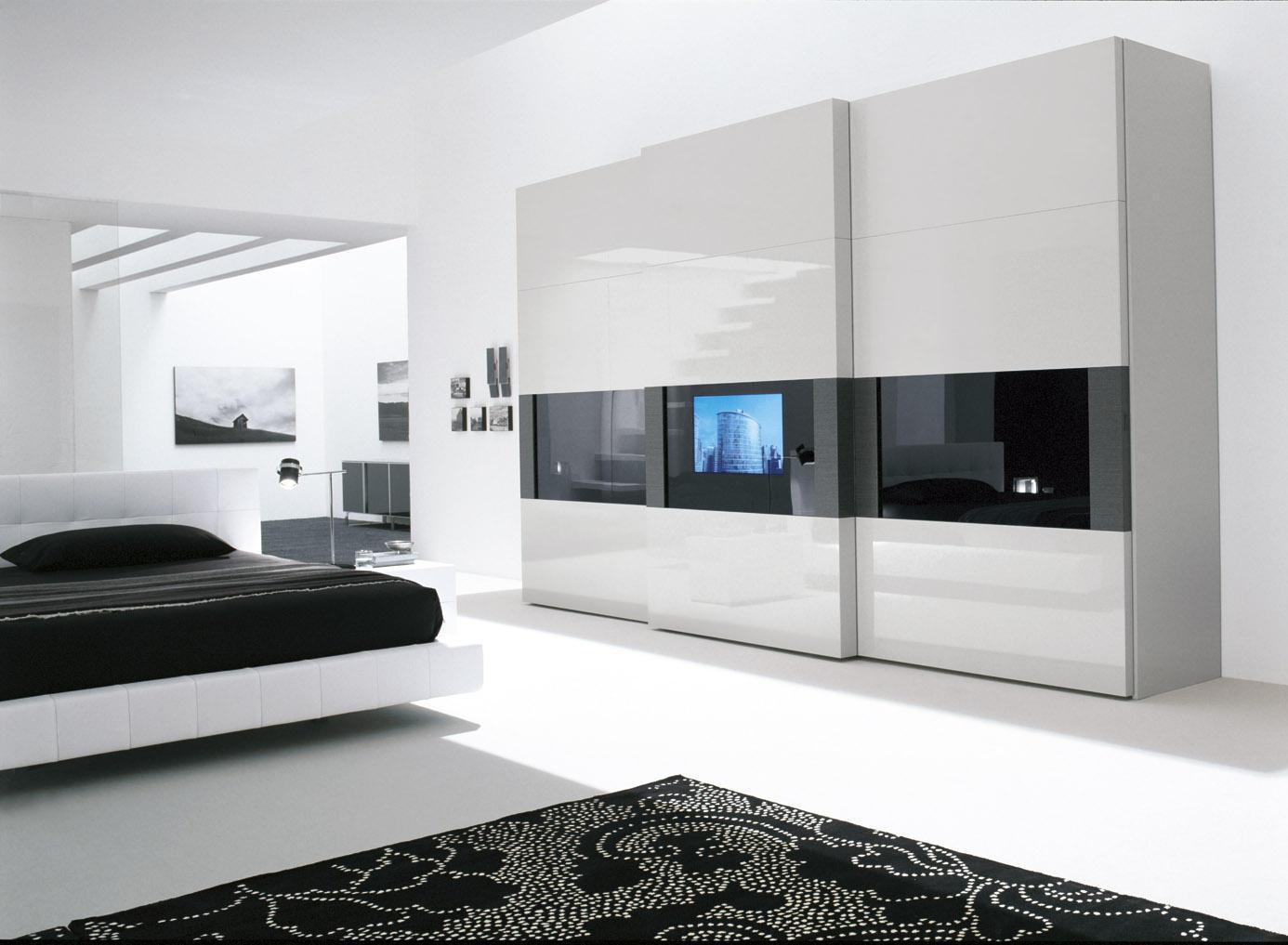 De het moderne Meubilair/Garderobe van de Slaapkamer van het ...