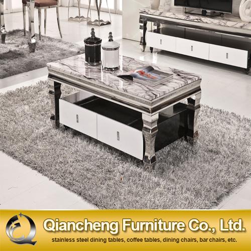 Tavolino da salotto moderno di marmo bianco della mobilia del ...