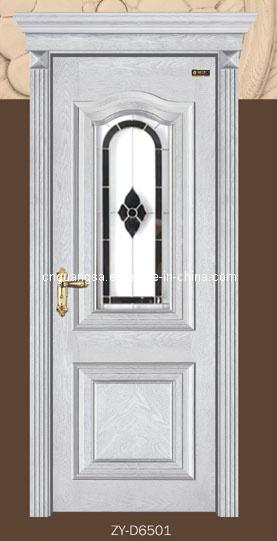 Puerta de cristal de madera puerta de madera s lida con for Puertas de madera blancas con vidrio