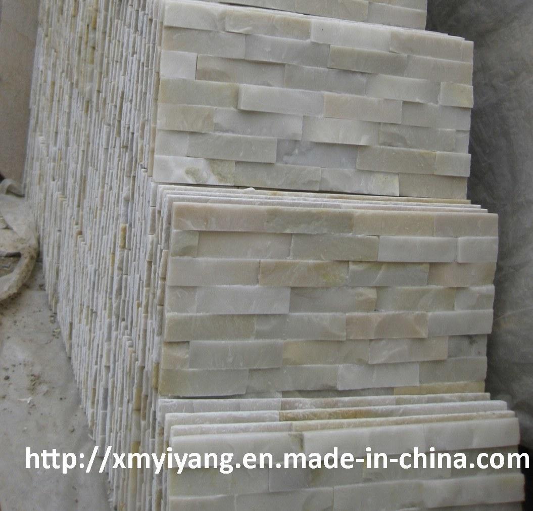 Quartzo branco pedra cultivada, Ledgestone, pedra do  ~ Revestimento Quartzo Pedra