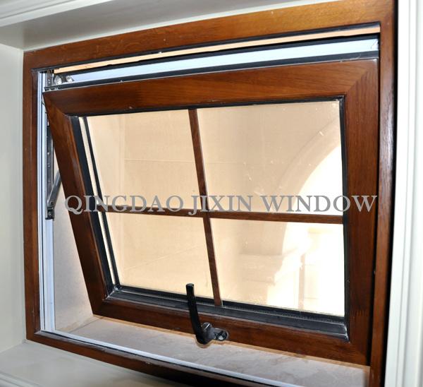 Ventana compuesta de aluminio de madera de compoud de la for Cerramientos de aluminio precio por metro cuadrado