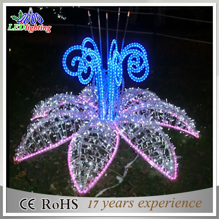 Indicatore luminoso esterno della decorazione del fiore di for Decorazione giardino natale