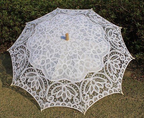 De romantische paraplu van de parasol van het kant de romantische paraplu van de parasol van - Paraplu katoen ...