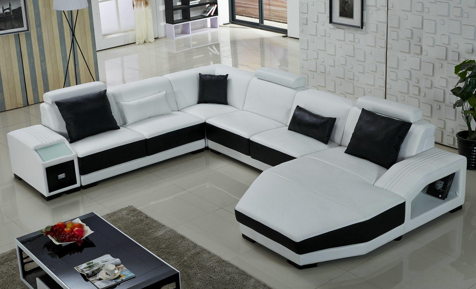 foto de sof moderno em forma de u branco em pt made in