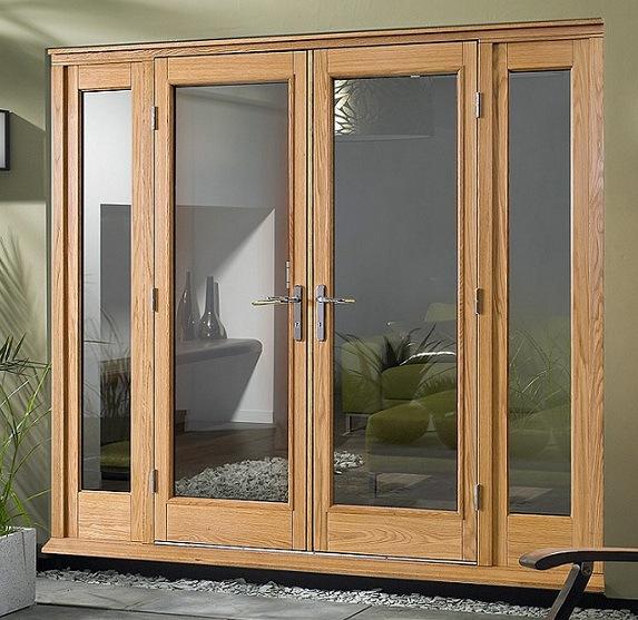Puerta francesa de aluminio europea de madera s lida del for Precio de puertas francesas