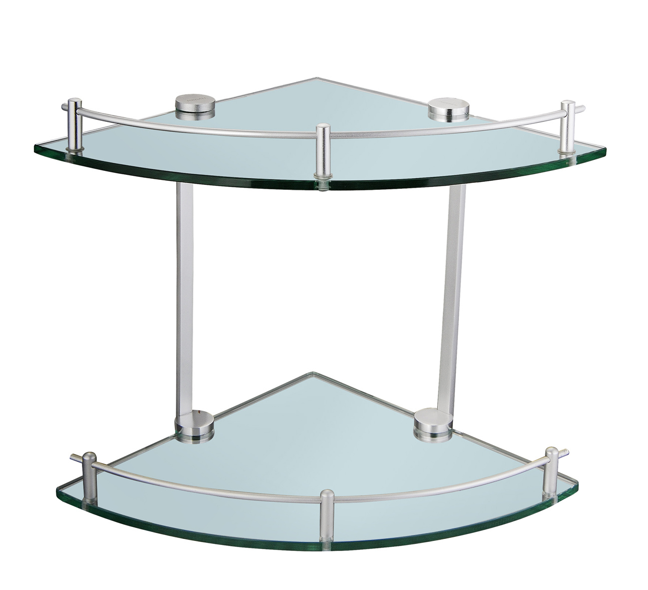 Prateleira de vidro dobro do ângulo (KD L5621) –Prateleira de vidro  #1C3328 1298x1181 Acessorios Banheiro China