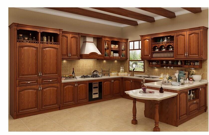foto de nuevo gabinete de cocina de madera s lida 2016