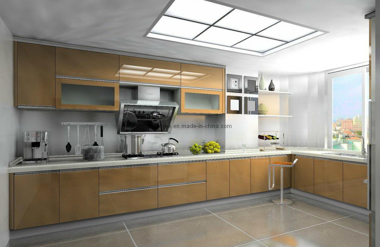 lustrosa/Matt/armário de cozinha pintado Bel03 08 da laca do MDF  #916A3A 1279x831
