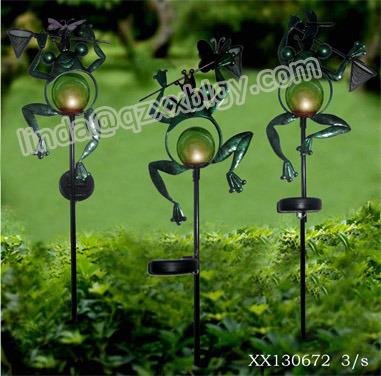 Estaca del hierro con solar para la decoraci n de la yarda - Lopez del hierro decoracion ...