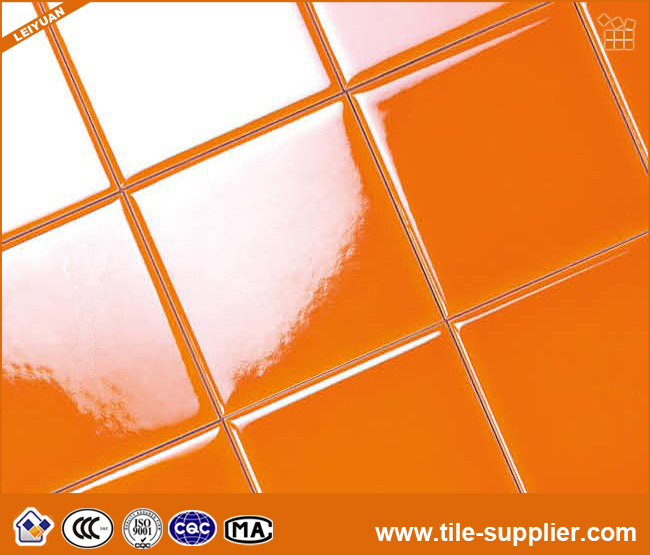 De oranje tegel van de metro van backsplash van de keuken ceramische de oranje tegel van de - Eetkamer tegel ...