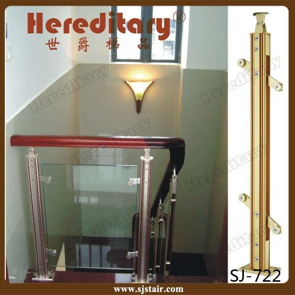 Foto de barandilla de cristal de aluminio para la escalera for Barandilla escalera exterior