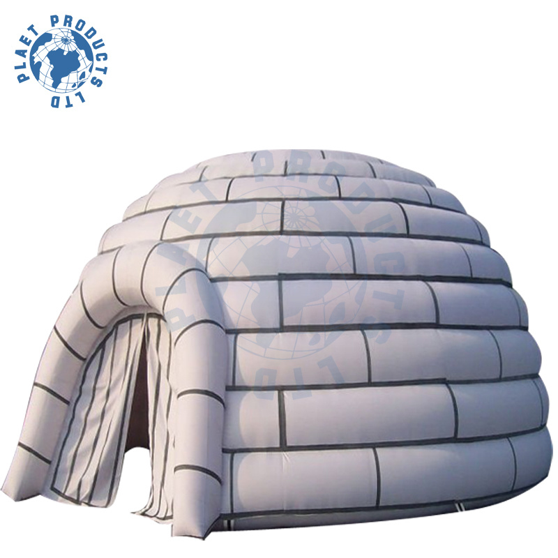 tente gonflable d 39 igloo de glace avec le gv en71 en14960. Black Bedroom Furniture Sets. Home Design Ideas