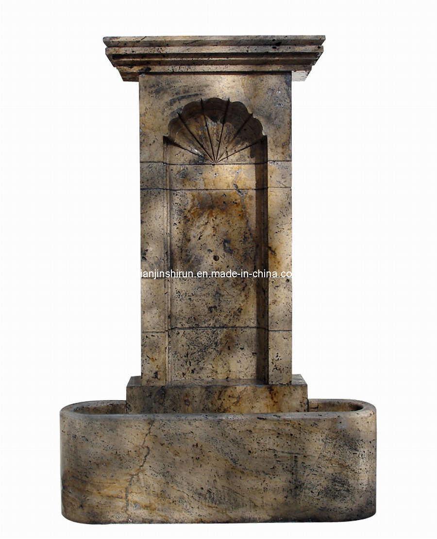 Fuente de pared de piedra antigua fg028 fuente de - Fuentes de pared de piedra ...