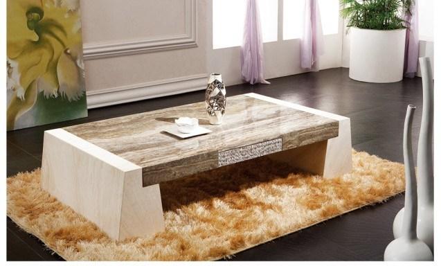 Tavolino da salotto naturale moderno D8832 del marmo del ...