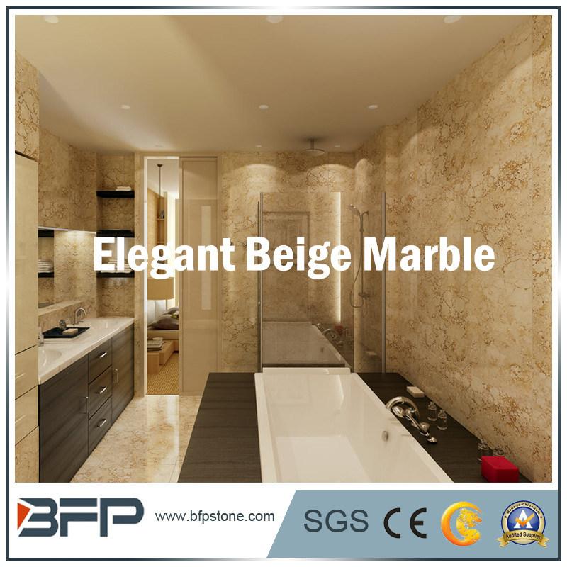 Mattonelle di marmo beige della parete della cina con colore ...