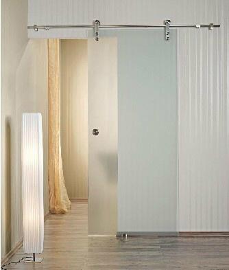 Elegante puerta de granero pistas glass sistema de for Puertas correderas de granero precio