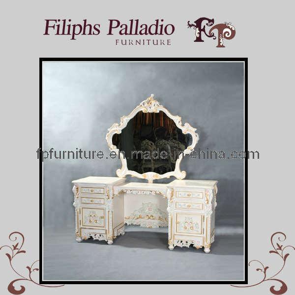 Meubilair van de slaapkamer van de luxe het italiaanse klassieke klassieke toilettafel 9812zt - Meubilair van de ingang spiegel ...