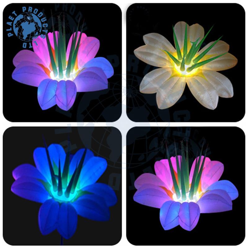 De bloem van de decoratie van de opblaasbare leidene partij van de verlichting met tribune pool - Decoratie van de kamers van de meiden ...
