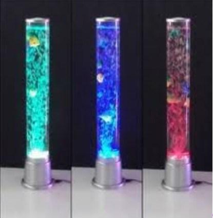 Lampe de bulle de forme de rocket lumi res de 7colors led poisson yw nm 50 lampe de bulle - Lampe a bulle ...