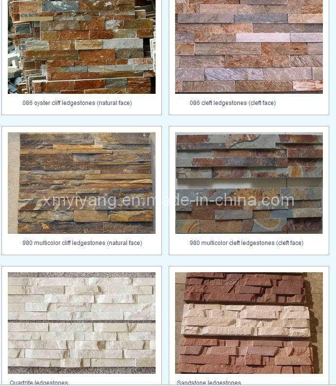 Pedra da cultura do revestimento da parede folheado de  ~ Revestimento Quartzo Pedra