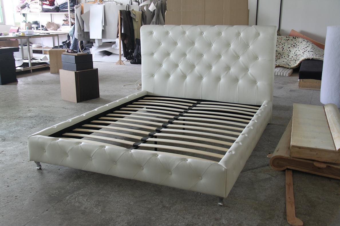 Cama de cuero cama suave cama de madera rb7821 cama - Camas de cuero ...