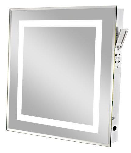 Espejo iluminado del cuarto de ba o con la venda ligera for Espejo con borde biselado