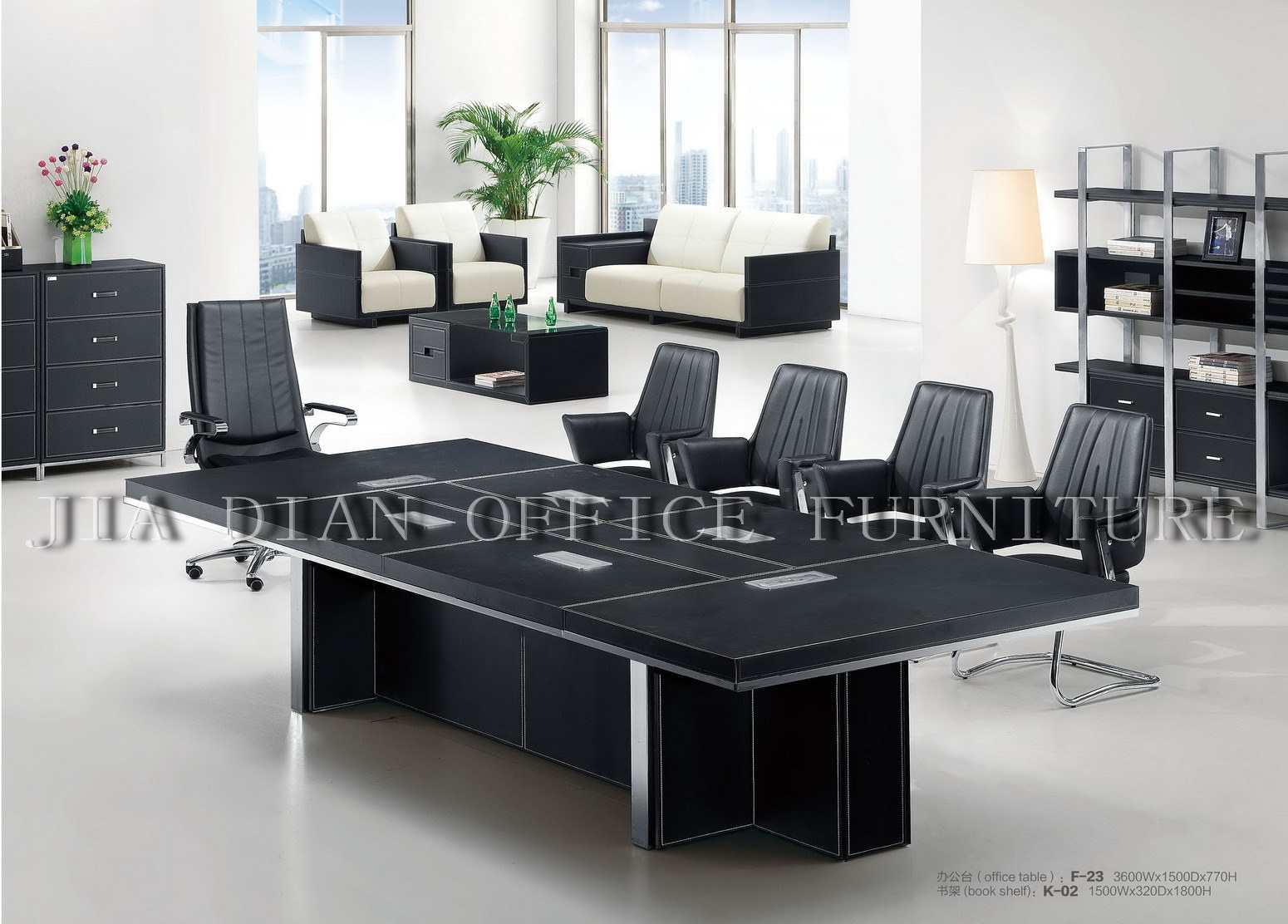Mesa de reuniones escritorio de oficina f 23 mesa de for Factory oficina