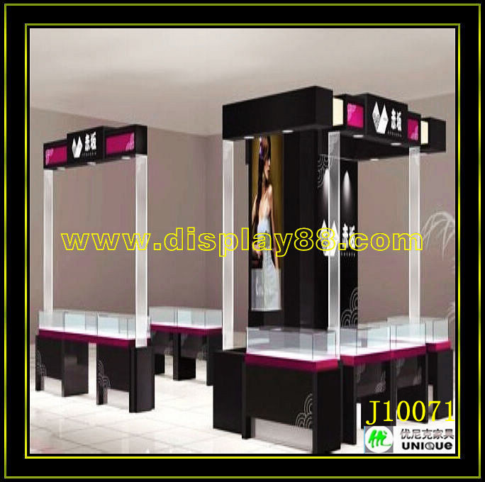 affichage de vitrine de bijoux en verre tempered c10114. Black Bedroom Furniture Sets. Home Design Ideas