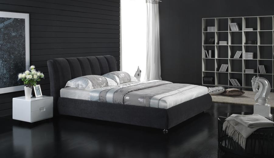 lit de luxe moderne de tissu photo sur fr made in. Black Bedroom Furniture Sets. Home Design Ideas