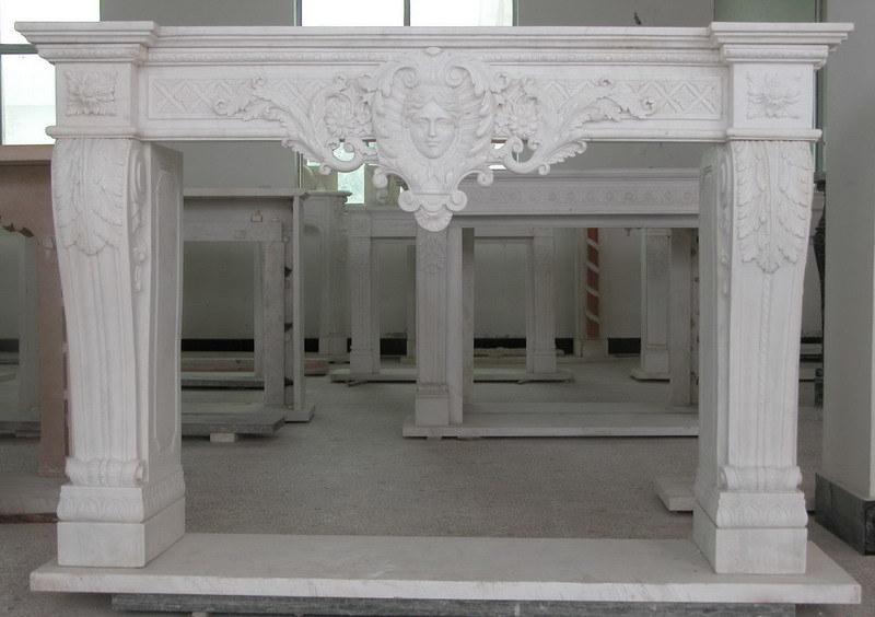 Chimenea de interior decorativa del m rmol de la chimenea - Piedra decorativa interior ...