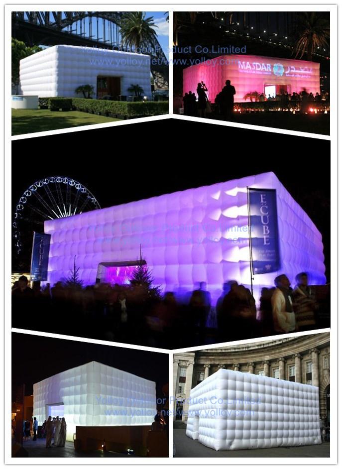 eclairage led tente de r ception concert gonflable salle tente cube gonflable photo sur fr. Black Bedroom Furniture Sets. Home Design Ideas