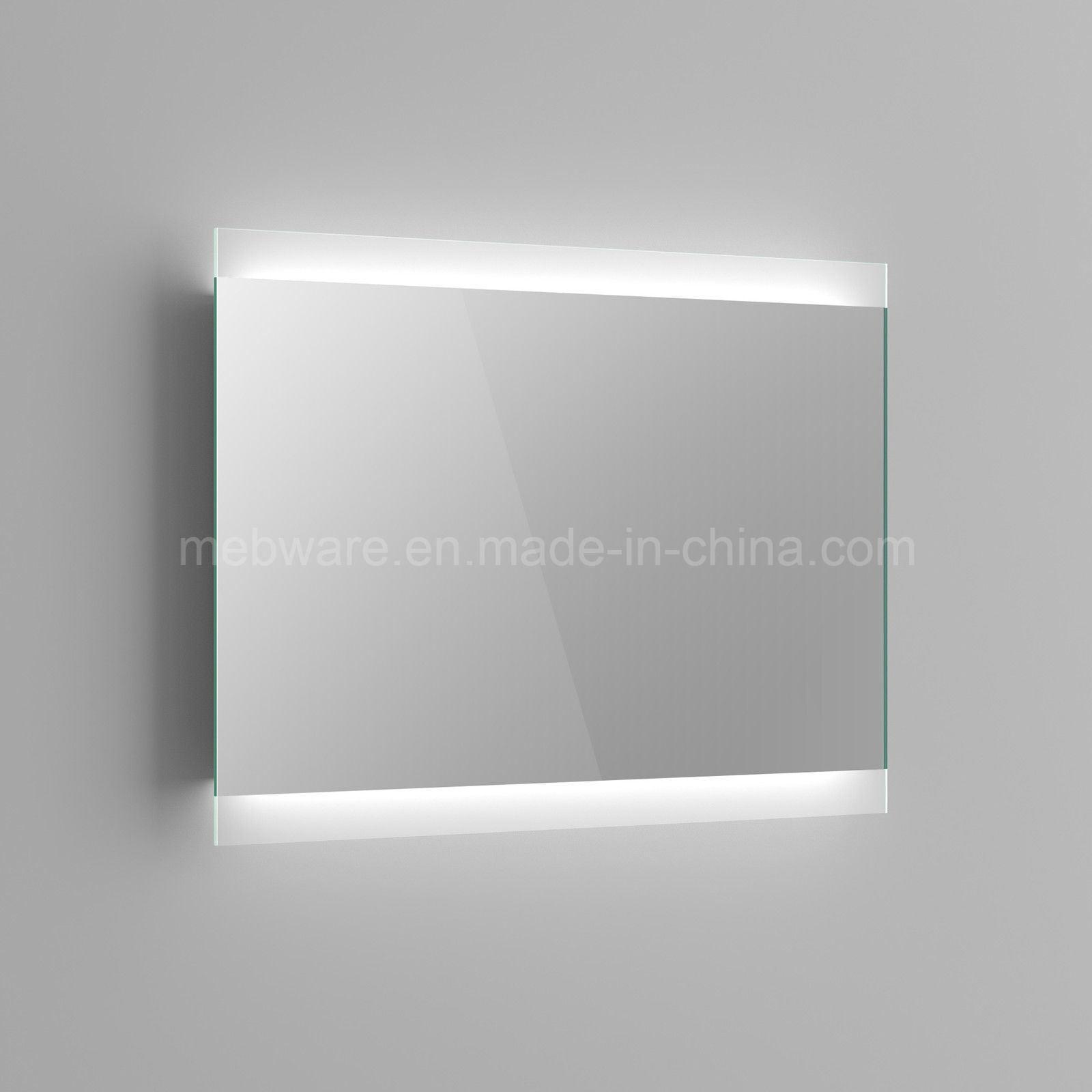 espejo de bao sin marco sensor de luz trasera led espejo caja de luz led