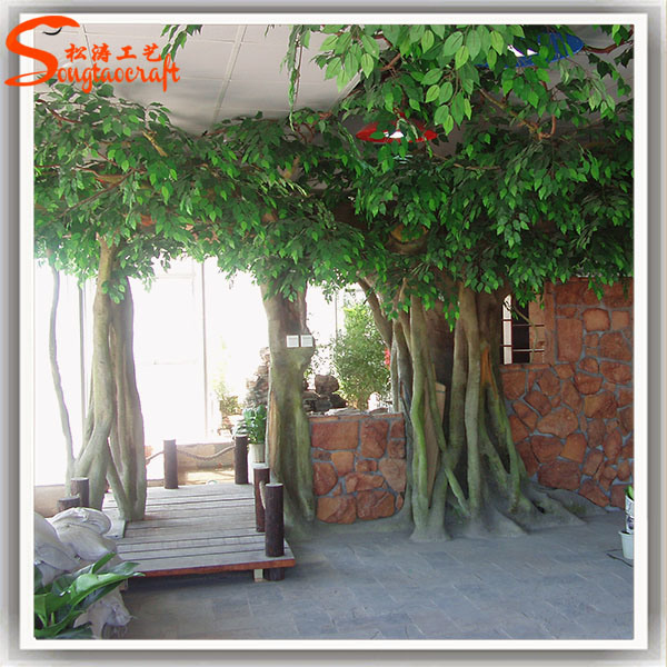 Arbre artificiel d coratif d 39 int rieur d 39 usine de banian for Arbres artificiels interieur