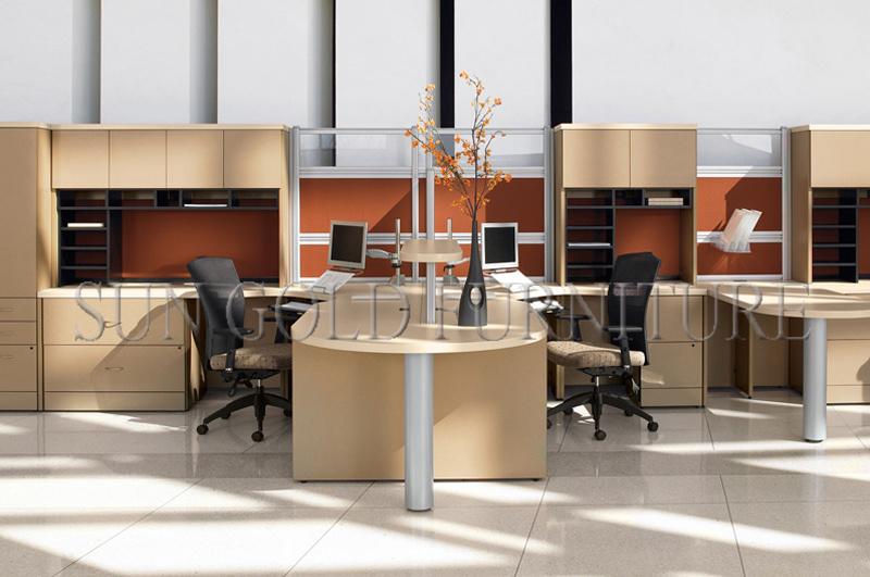 현대 주문을 받아서 만들어진 칸막이벽 사무실 카운터 테이블 ...