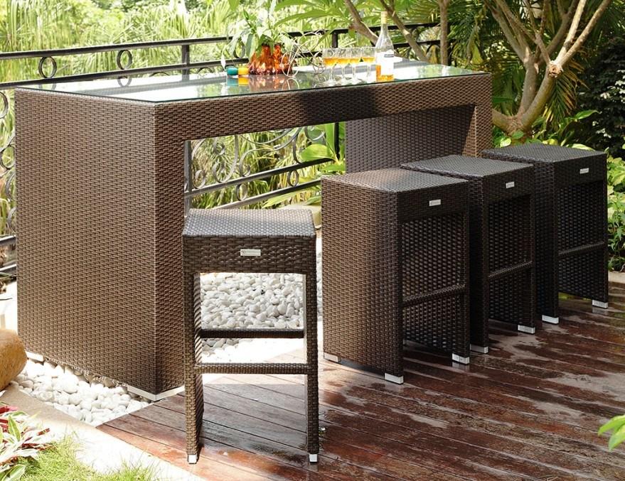 Alu reeks van de bar van het terras van het kader de rieten comfortabele bz b004 alu reeks - Ijzer terras ...
