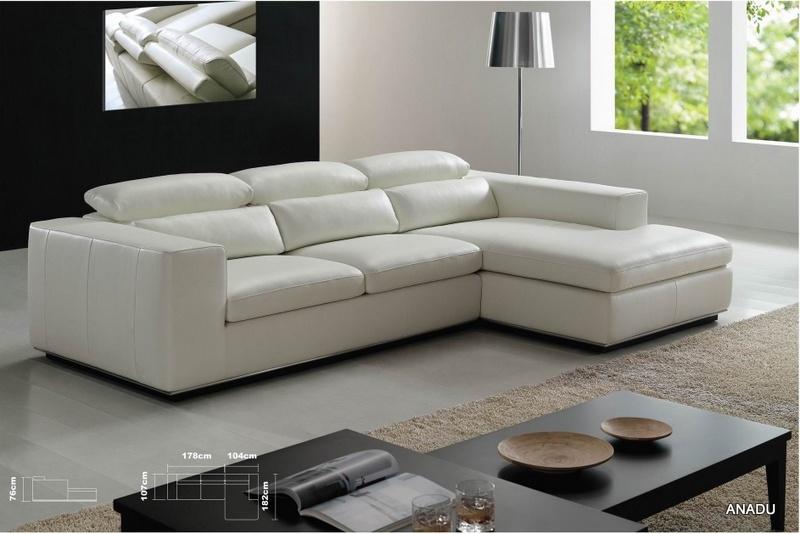 De witte bank van het leer van de hoek van de kleur eenvoudige voor de vervaardiging van de bank - Sofa van de hoek uitstekende ...