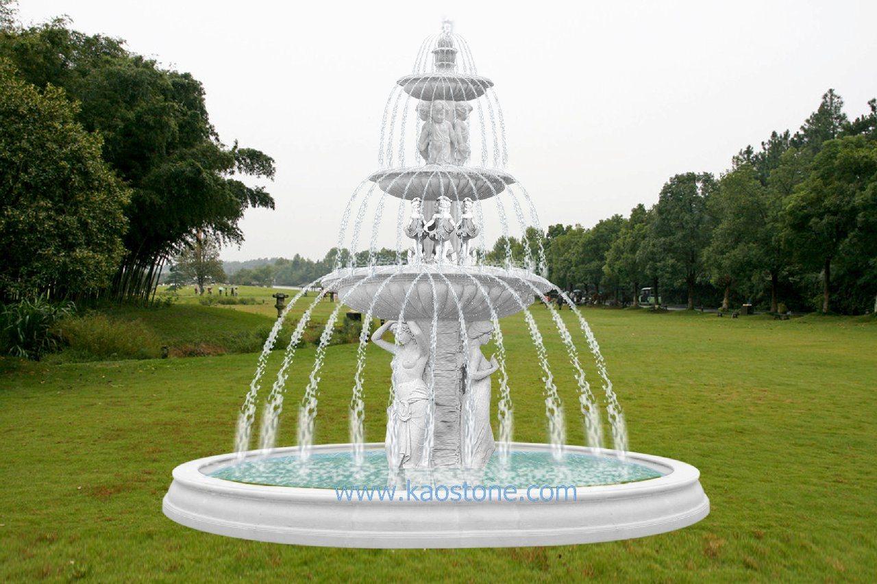 Marmorbrunnen U Garten Wasser Brunnen Foto Auf De Made In