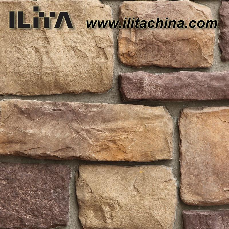 Foto de piedra de piedra artificial del cemento - Piedra pared exterior ...