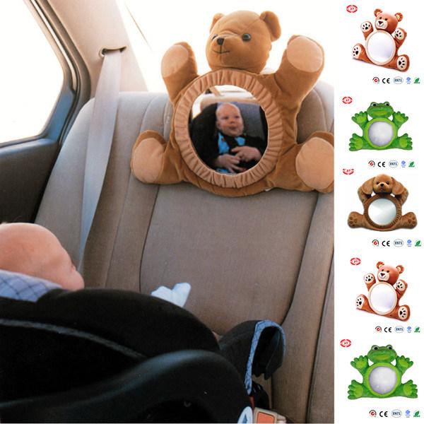 miroir infantile d 39 arri re de jouet de peluche de v hicule de b b de grenouille de crabot d. Black Bedroom Furniture Sets. Home Design Ideas