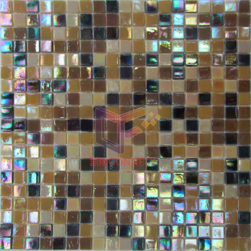 Foto de azulejo de mosaico de cristal usado cocina csj74 - Azulejos de cristal ...