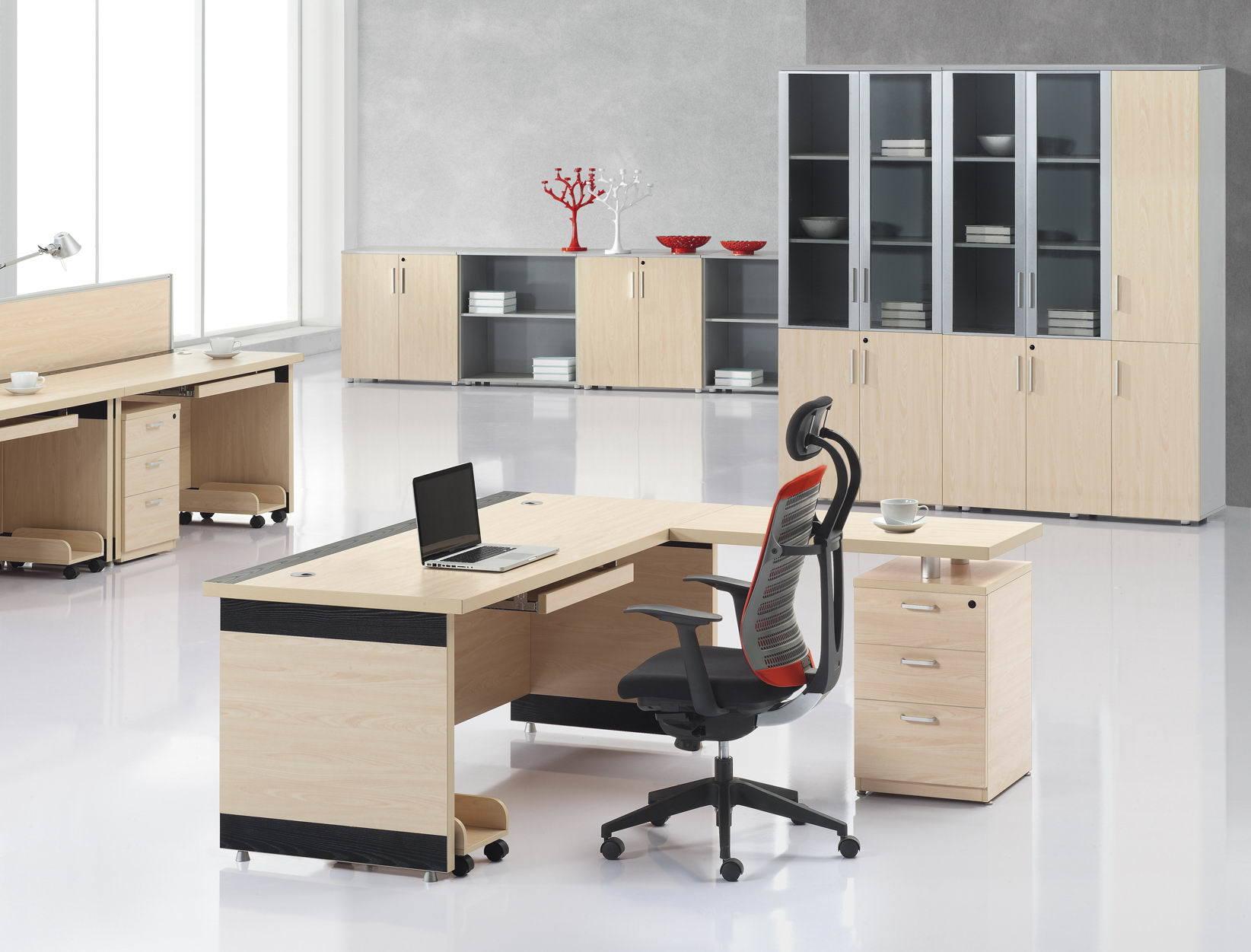Escritorio de oficina moderno de la melamina e1 ep hs s17 for Proveedores de muebles de oficina