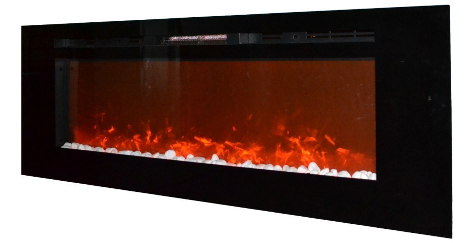 nouvelle grande taille fix e au mur chemin e lectrique d 39 insertion avec la flamme rouge avec la. Black Bedroom Furniture Sets. Home Design Ideas