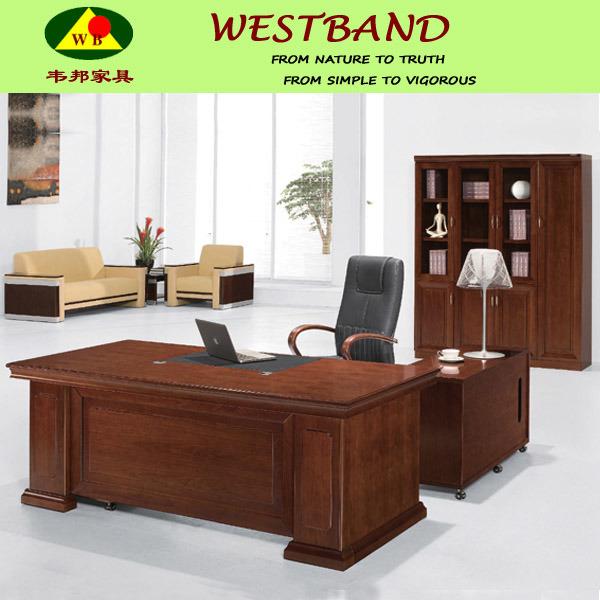 Modern solid escritorio de director madera mesa de for Lista de muebles de oficina