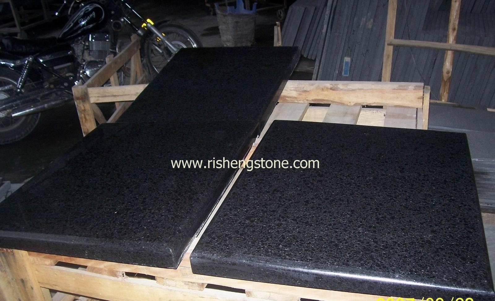 Granito g684 granito negro de la perla tapa de for Marmol negro brasil