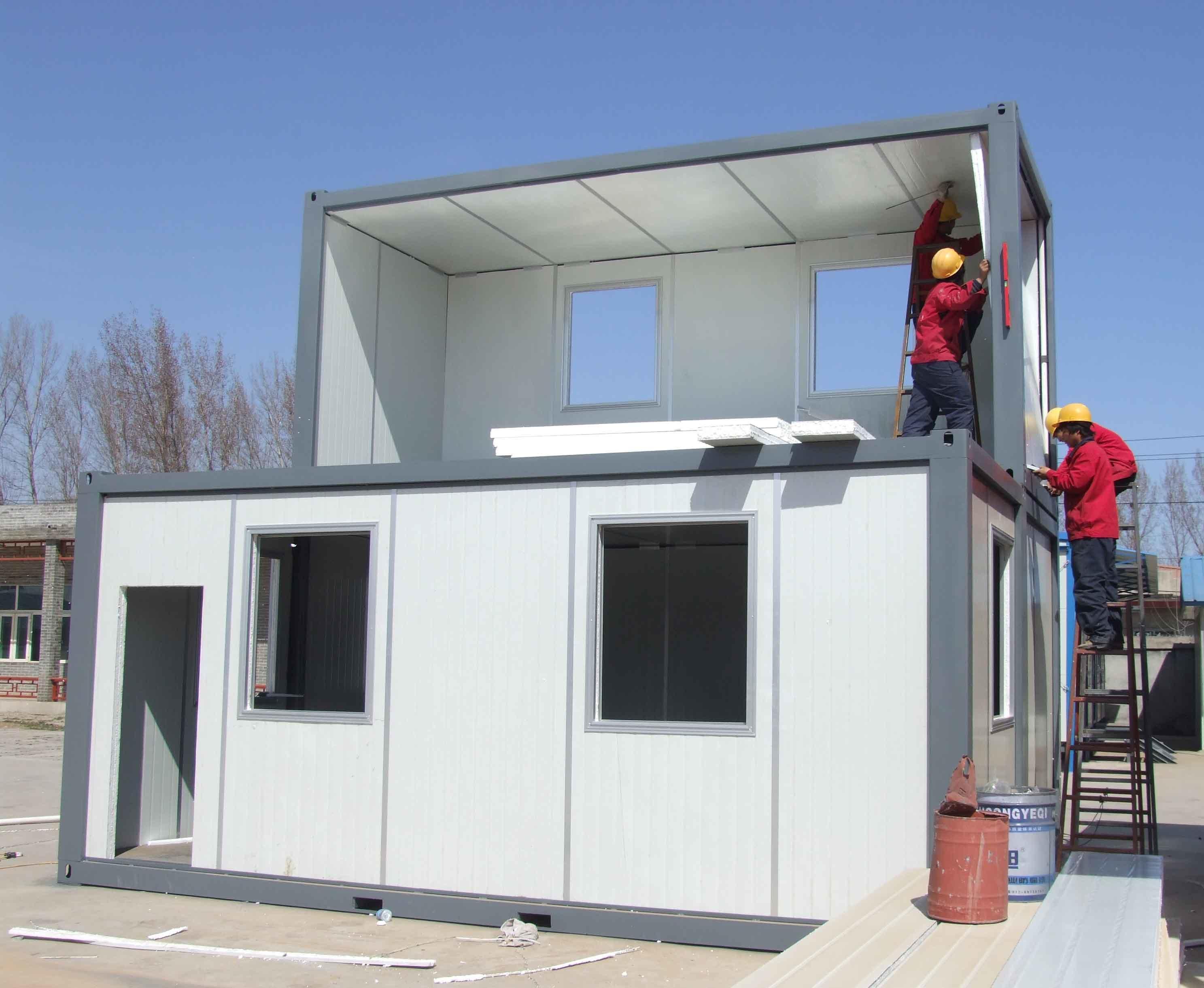 Dos pisos combinado container casa dos pisos combinado - Casas container precio ...